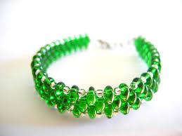 weave beaded bracelet images Emerald bracelet emerald beaded bracelet seed bead bracelet jpg