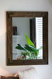 Wood Mirrors Bathroom Brilliant Rustic Wall Mirror Large 24 X 30 Reclaimed
