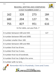 Free Printable Worksheets For 3rd Grade Free Place Value Worksheets Reading And Writing 3 Digit Numbers