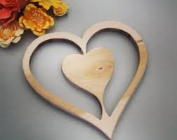 Heart Home Decor Plywood Heart Etsy