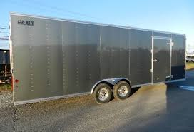 Enclosed Trailer Awning For Sale Carmate 8 5x24 Enclosed Custom Car Trailer Rubber Coin Cabinets