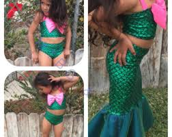 Mermaid Halloween Costume Toddler Mermaid Mermaid Tail Birthday Mermaid Costume