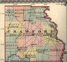 Illinois Map With Counties by Crawford County Illinois Maps And Gazetteers