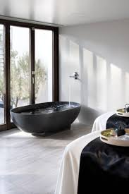 large white fiberglass tubs mixed black ceramic floor as well f 87 best black bathrooms images on pinterest architecture bath
