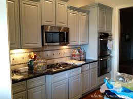 Painted Kitchens Cabinets Delighful Painted Kitchen Cabinets Two Colors Exciting Makeover