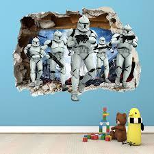 children star wars boys wall decals stickers ebay star wars smashed wall sticker bedroom boys girls art decal