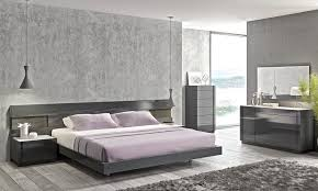 Lacquer Bedroom Set by J U0026m Furniture Modern Braga Grey Lacquer Bedroom Set Queen Size