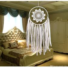 2017 white handmade macrame dream catcher wall hanging home car style ms6057