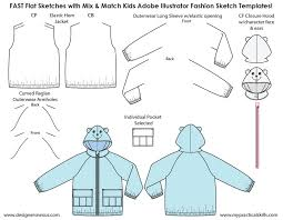 kids illustrator flat fashion sketch templates my practical