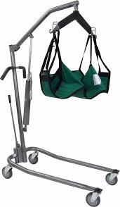 hydraulic patient power lift w 6 point cradle and sling chains