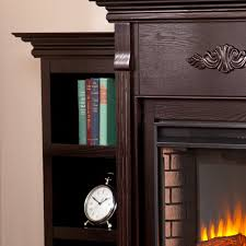 sei newport electric fireplace with bookcases classic espresso