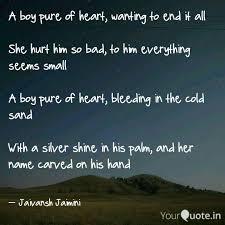quotes heart bleeding jaivansh jaimini quotes yourquote