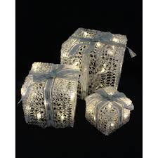 christmas present light boxes 3 led light up gift boxes christmas from tj hughes uk