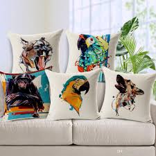 Fall Outdoor Pillows by Parrot Orangutan Cat Dog Animal Printed Cushion Cover Color