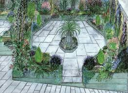 Small Garden Patio Design Ideas Classic Styles Of Homes Brick Wall Large Lawn Completed With