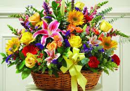 flowers funeral basket flower arrangements illustrious