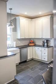 Kitchen Tiles Floor Kitchen Impressive Kitchen Floor Tiles With White Cabinets Tile