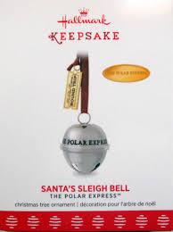 2017 hallmark polar express ornament santa s sleigh bell ebay