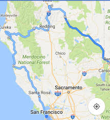 San Francisco On The Map by Days Two And Three Mc Arthur Burney Falls To Albee Campground