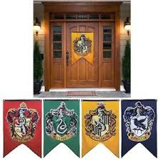 harry potter home decor house wall banner badge patch gryffindor flag hufflepuff harry