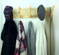 entryway coat rack from wooden hangers