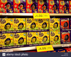 easter eggs sale easter eggs on sale in a uk supermarket stock photo royalty free
