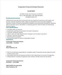 financial analyst resume financial analyst resume template business analyst resume exle