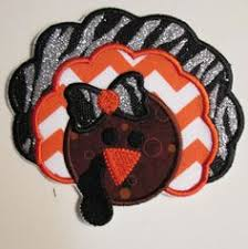 thanksgiving turkey iron on applique patch uniqueembroideries