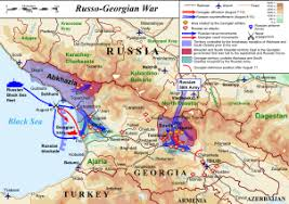 map of abkhazia 2008 south ossetia war simple the free