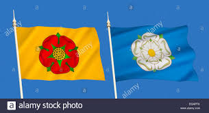 County Flags The English County Flags Of Lancashire And Yorkshire With The