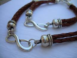 infinity bracelet leather images His and hers set of infinity bracelets leather bracelet mens jpg