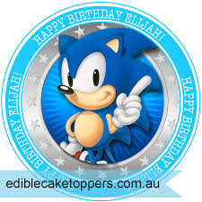 sonic cake topper sonic the hedgehog cake topper edible cake toppers