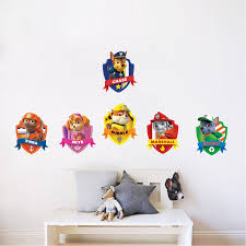 Paw Patrol Kids Wall Decal Decor Paw Dog Birthday Party Theme - Kids rooms decals