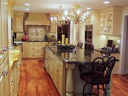 Kitchen Luxury Classic Kitchen Design With L Shaped Beige Kitchen - Granite top island kitchen table