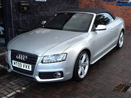 used audi a5 s line for sale used audi a5 2009 model 2 0t fsi s line petrol convertible silver