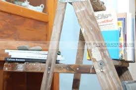 upcycle old wood ladder into bookshelf diy rustic home design