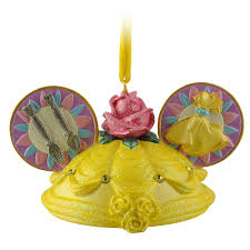 disney parks and the beast ear hat ornament new