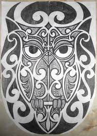 tribal maori polynesian owl tattoo half sleeve by ounotinof on