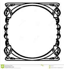 decorative frame with nouveau ornament stock vector image