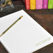 personalized note pad letter size
