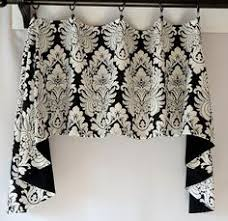 Toile Window Valances Black And White French Toile Window Valance With A Plaid Border