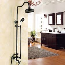 designer rubbed bronze black bathroom shower faucets