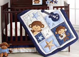 Monkey Crib Bedding For Girls Amazon Com Carter U0027s Monkey Collection 4 Piece Crib Set Baby