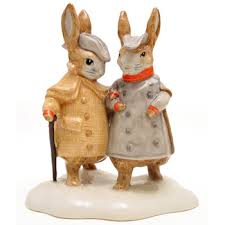 rabbit by beatrix potter two gentleman rabbits beatrix potter figurine seaway china company