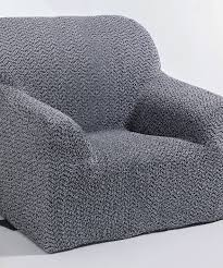 housse de canapé bi extensible housse extensible de fauteuil de relaxation gris textile de