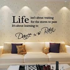 Dance Wall Murals 350 750mm Fashion Quote Dance In The Rain Letters Wall Sticker