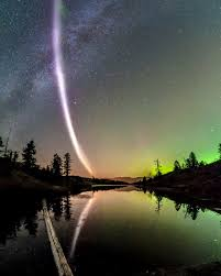 Light In The Sky California Meet Steve The Curious Ribbon Of Purplish Light Discovered In