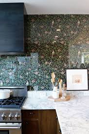 wallpaper kitchen backsplash a lovely low maintenance alternative to tile backsplashes