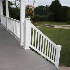 the harrington vinyl stair rail kit by durables decksdirect