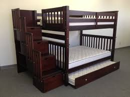 Bunk Beds Full Over Full Stairway Cappuccino Trundle Storage - Full over full bunk bed with trundle